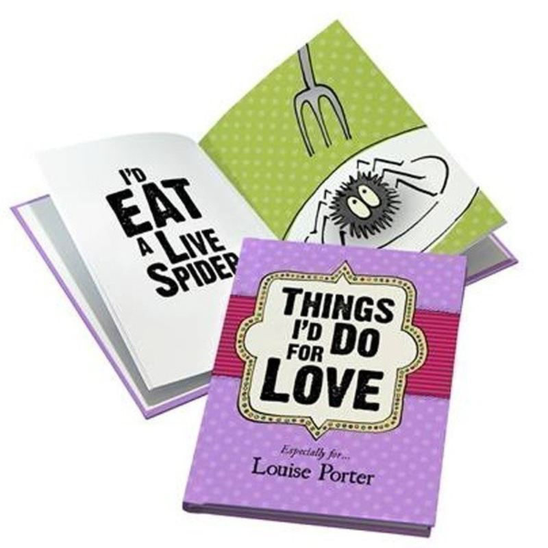 Things I'd Do for Love Personalised Book product image
