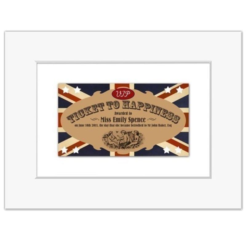 Ticket To Happiness Personalised Print product image