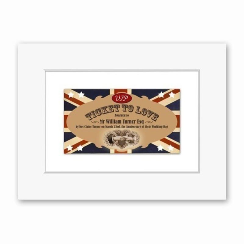 Ticket To Love Personalised Print product image