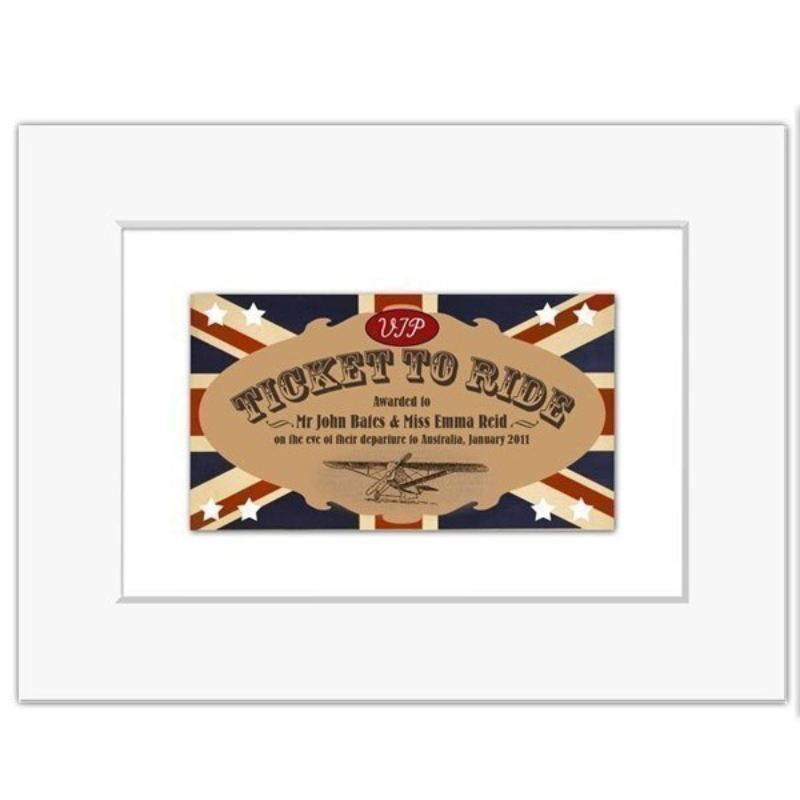 Ticket To Ride Personalised Print product image