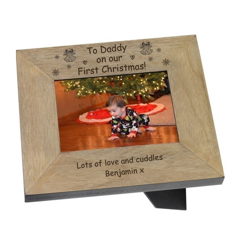 To Daddy on our First Christmas! Wood Frame 6 x 4 product image