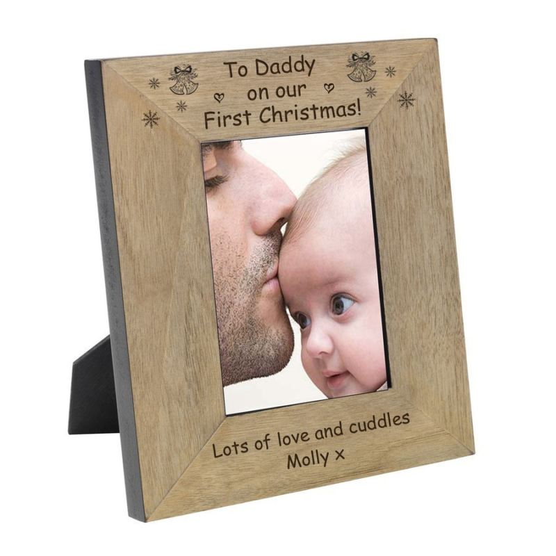 To Daddy on our First Christmas Wood Frame 6 x 4 product image