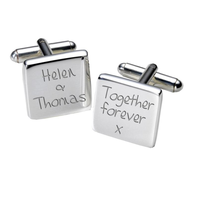 Together Forever Cufflinks - Square product image