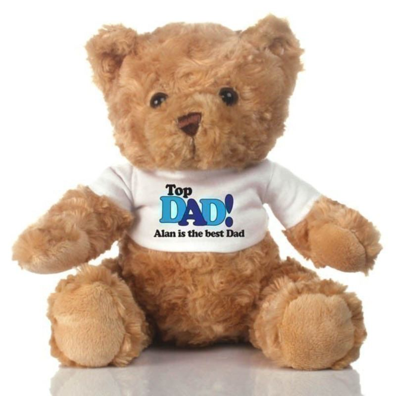 Top Dad Personalised Teddy Bear product image