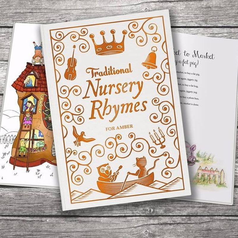 Traditional Nursery Rhymes Embossed Classic Hardcover product image