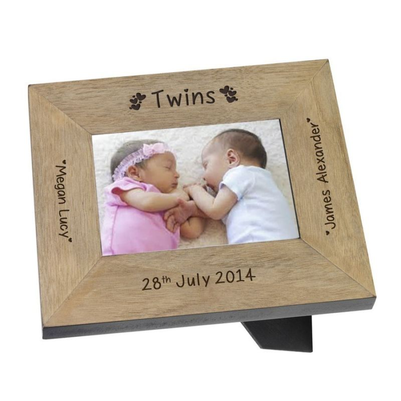 Twins Names Wood Frame 6 x 4 product image