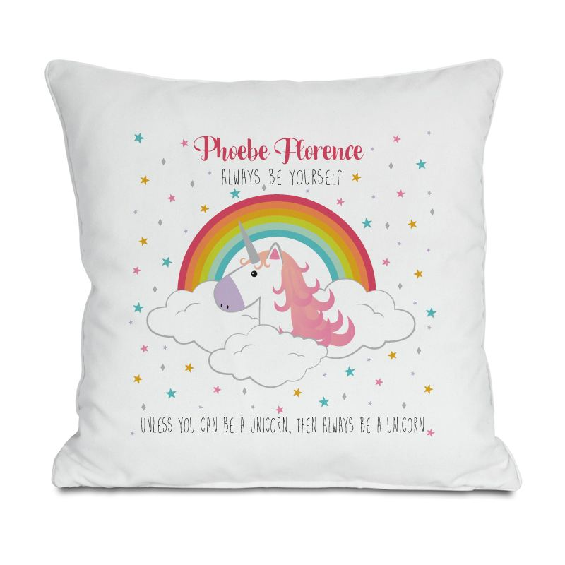 Personalised Always Be A Unicorn Cushion product image