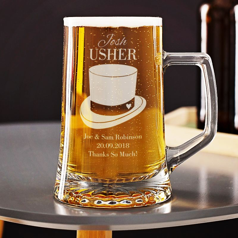 Personalised Usher Beer Glass Tankard product image