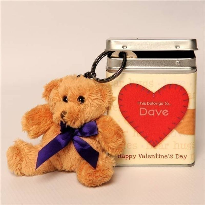 Valentine's Day Keyring Teddy - Heartfelt product image