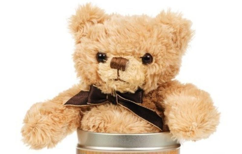 Valentine's Day Teddy in a tin - Heart product image