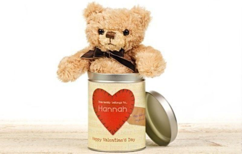 Valentine's Day Teddy in a tin - Words product image