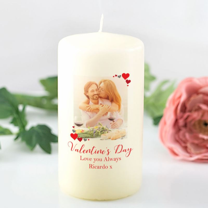 Valentine's Day Personalised Photo Candle product image