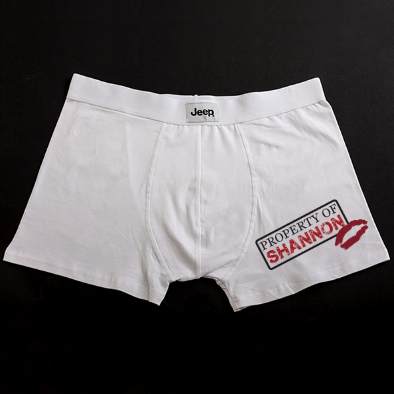 Personalised Property Of Male Boxer Shorts product image
