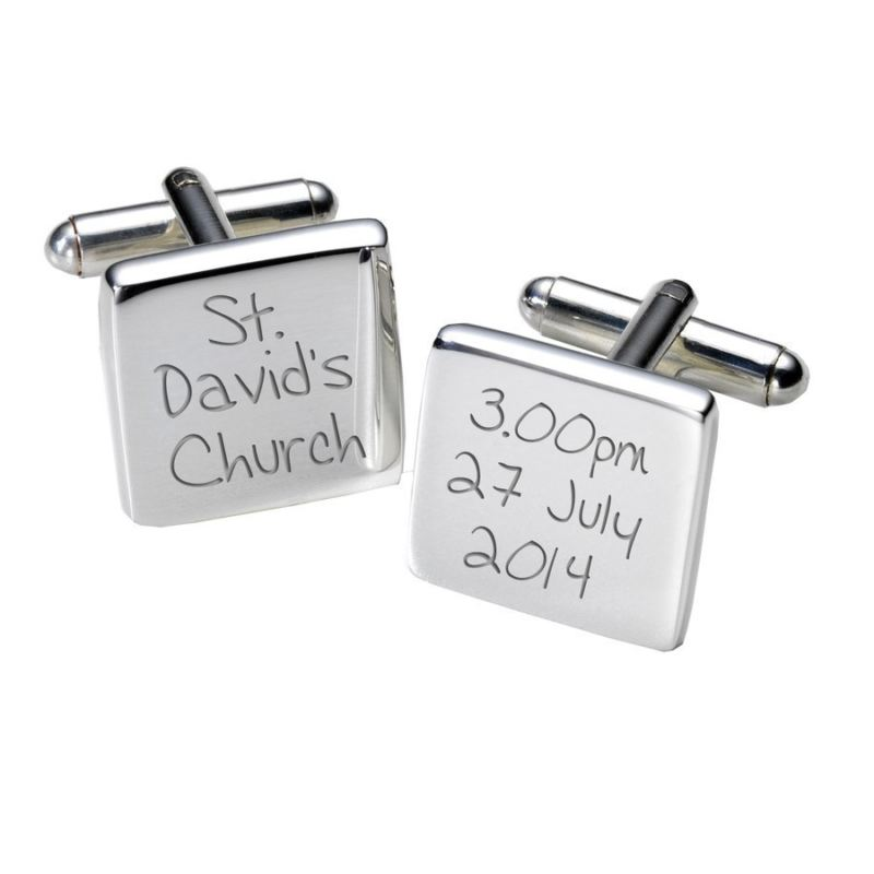 Venue & Date Cufflinks - Square product image
