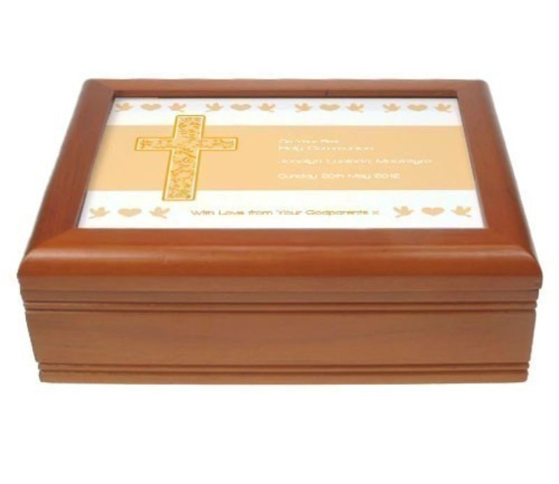 Warm Beige First Holy Communion Jewellery Box product image