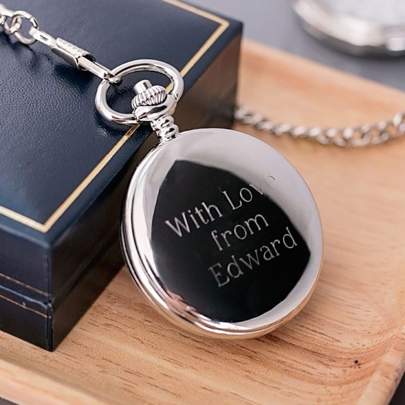 Engraved Brother of the Groom Pocket Watch product image