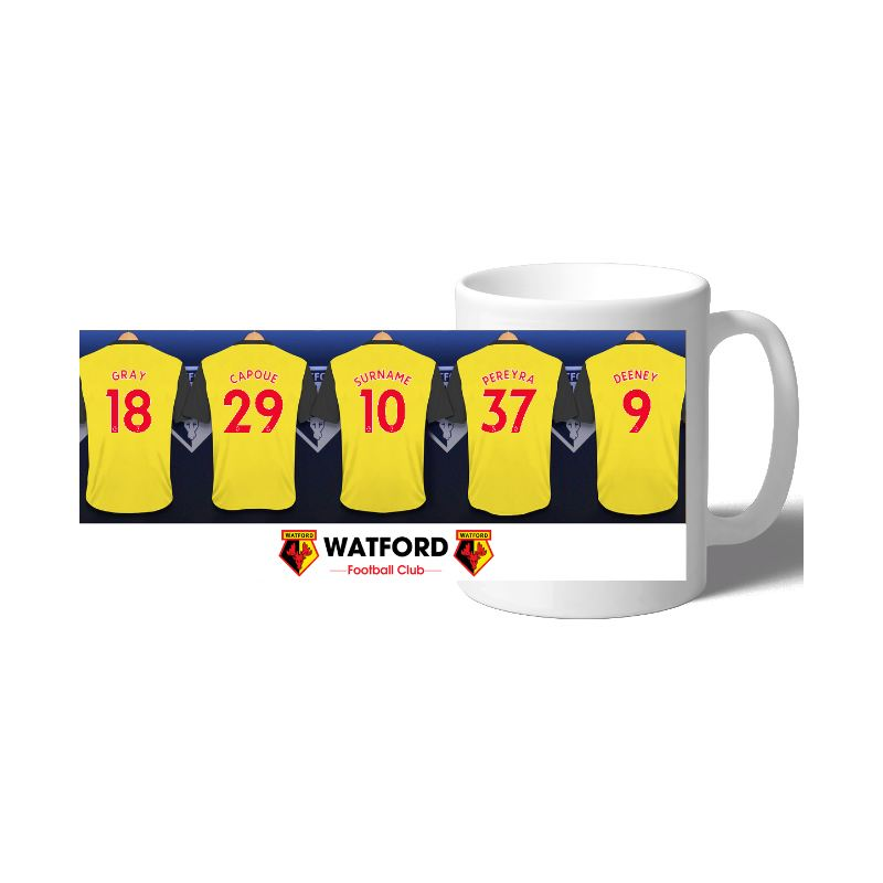 Personalised Watford FC Dressing Room Mug product image