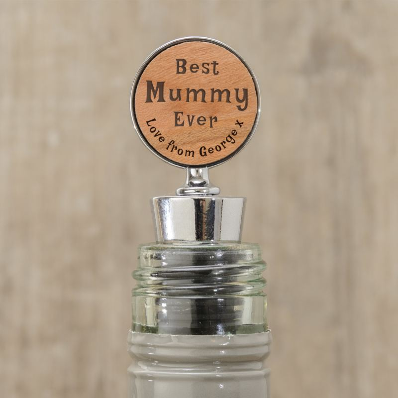 Best Mummy Ever Personalised Wine Bottle Stopper product image