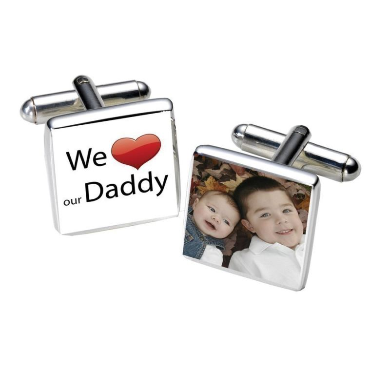 We Love Our Daddy Photo Cufflinks product image
