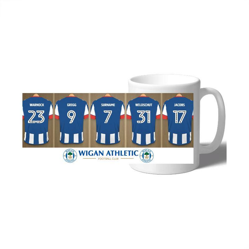 Personalised Wigan Athletic FC Dressing Room Mug product image