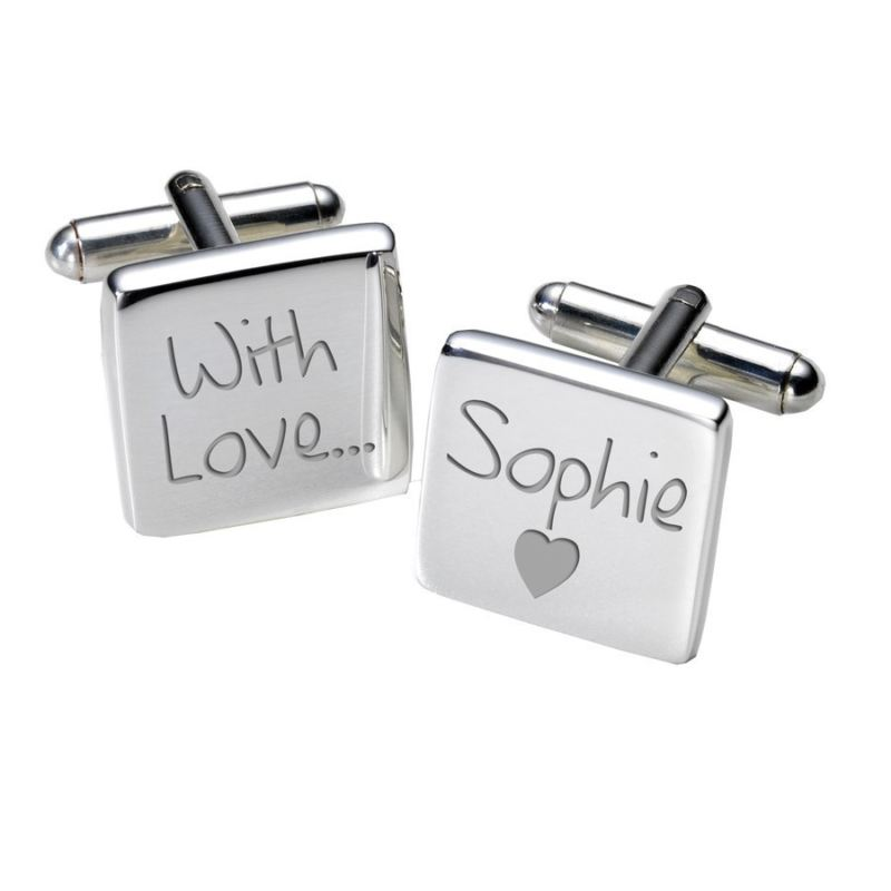 With Love Cufflinks - Square product image