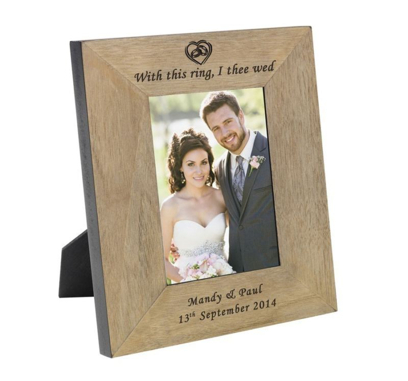 With this ring Wood Frame 6 x 4 product image