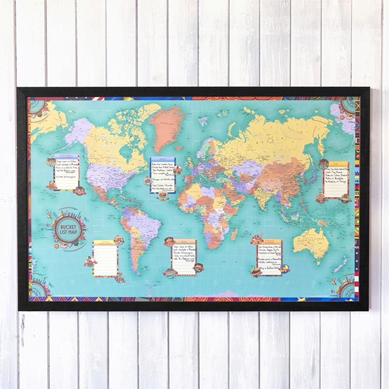 Personalised World Bucket List Map product image