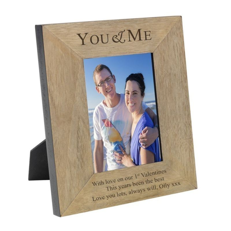 You Me Wood Frame 6 X 4 The Personalised Gift Shop