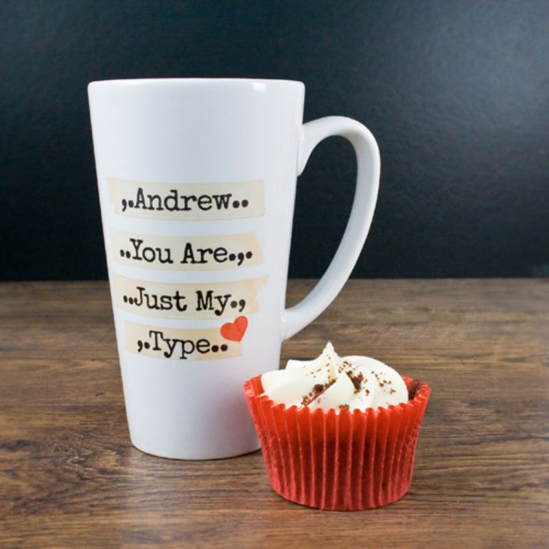 You're Just My Type Romantic Latte Mug product image