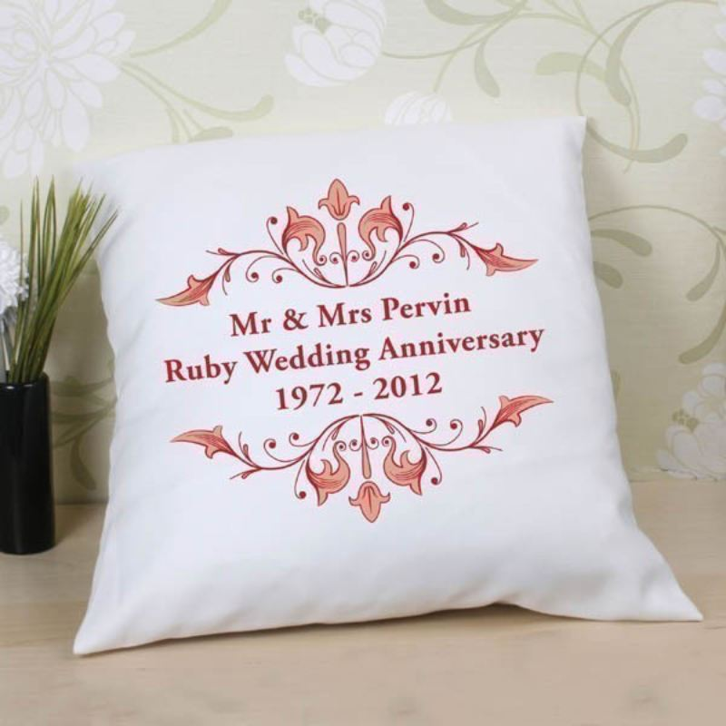 40th Wedding Anniversary Gift Ideas New Zealand : 40th Wedding Anniversary Cushion The Personalised Gift Shop