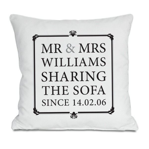 ... Mrs Sharing The Sofa Personalised Cushion The Personalised Gift Shop